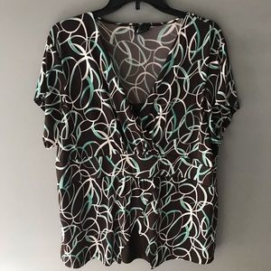 East 5th Brown 1X blouse